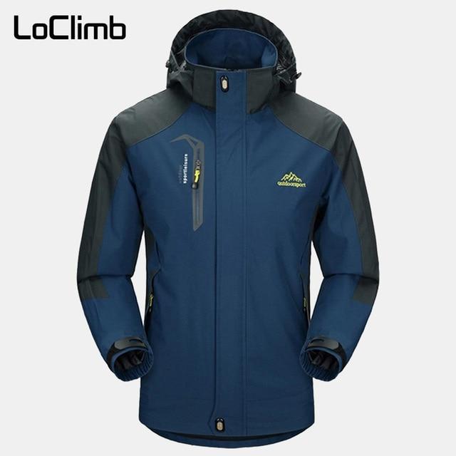 LoClimb Mens Spring/Autumn Outdoor/Hiking Jacket Men Mountain Trekking Windbreaker 5XL Fishing Coat Waterproof Jackets AM163