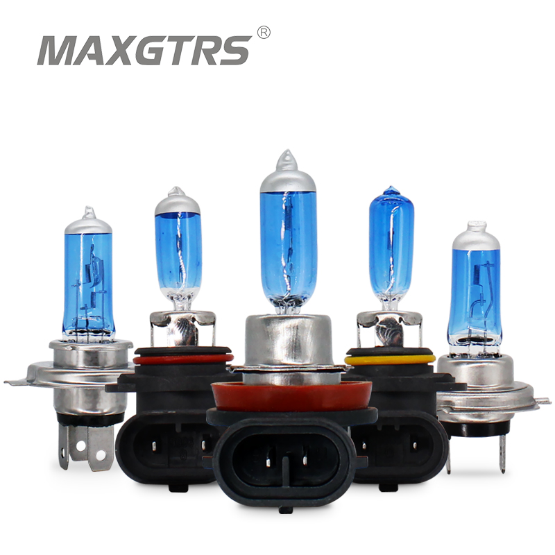 2x HOD H1 H3 H4 H7 H8 H11 9005 9006 12V 35W Super White 5000K Fog Halogen Bulb Car Headlight Lamp Parking External Lights Source