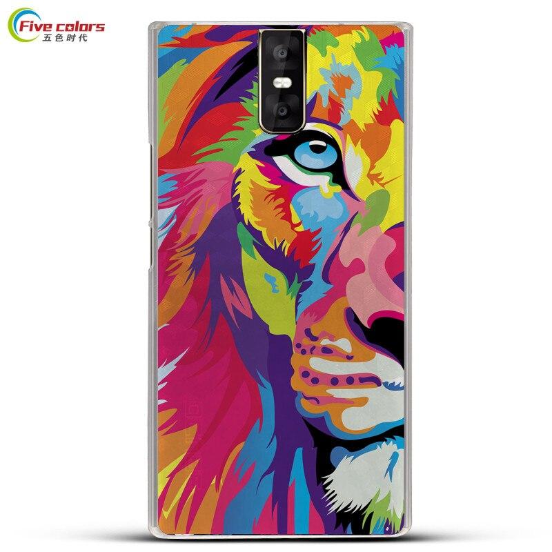 Cinq couleurs Pour Oukitel K3 Cas 5.5 pouces Dur En Plastique PC le dos De Dessin Animé Imprimé Motif Téléphone Cas Pour Oukitel K3 Smartphone