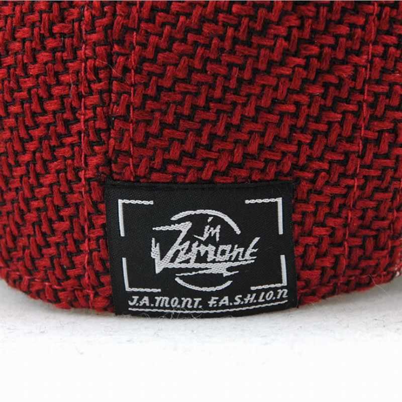 JAMONT 2018 новый осенне-зимний берет для мужчин s шляпа полосатая Кепка Англия, британский Повседневный мужской и женский полиэстер плоская кепка французская шляпа