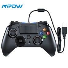 Mpow Проводные джойстики игры светодиодный свет контроллер для игровых приставок usb-геймпад с и вызвать Bottouns геймпады для PS4/PS3/Win/Android ТВ