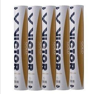 VICTOR NO.1 Victor Or haut volant de badminton en plumes de canard de 12 pièces/douzaine volant de plume pour la concurrence 5 douzaines/lot