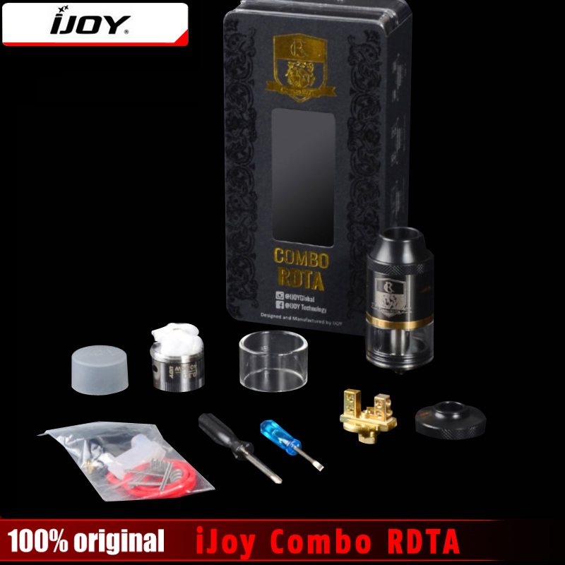 100% Original iJoy Combo RDTA RDA & Combo RDTA 2 Vape Sub Ohm Tank Atomizer 6.5ml e-Juice Capacity With Side Filling System original steam crave aromamizer plus rdta 10ml e liquid enhanced airflow juice flow design rdta tank electronic cigarette tank