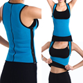 EXTREME Blue slimming redu thermo hot slim belt Neoprene shaper Vest Sweat *USPS*