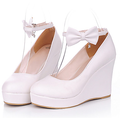 PU Leather 8cm Wedge Sweet <font><b>Lolita</b></font> <font><b>Shoes</b></font> image