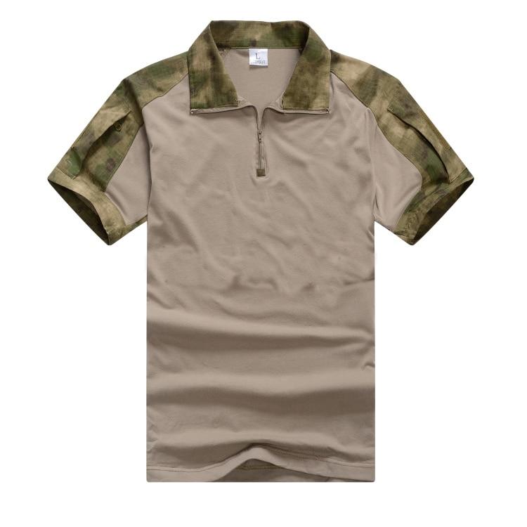 Refire gear летняя камуфляжная армейская боевая рубашка мужская Военная тактическая рубашка поло США страйкбольная камуфляжная рубашка поло с коротким рукавом - Цвет: Green Camo