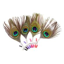 1 Pair Peacock Feather Nipples Clamps Flexible Adjustable Clip Female Male SM Sex Props Flirting Erotic Toy Adult Product