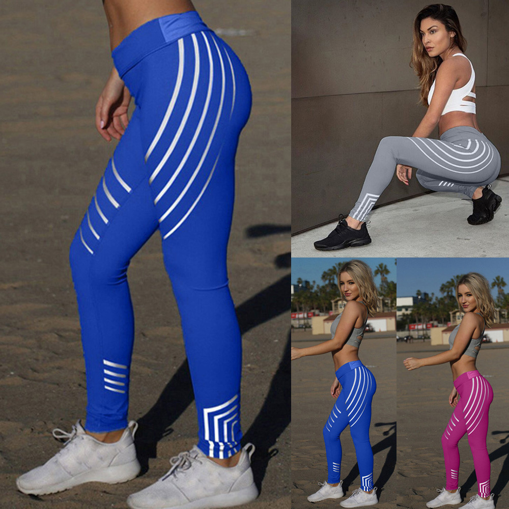 Sports Leggings For Women - Stripes