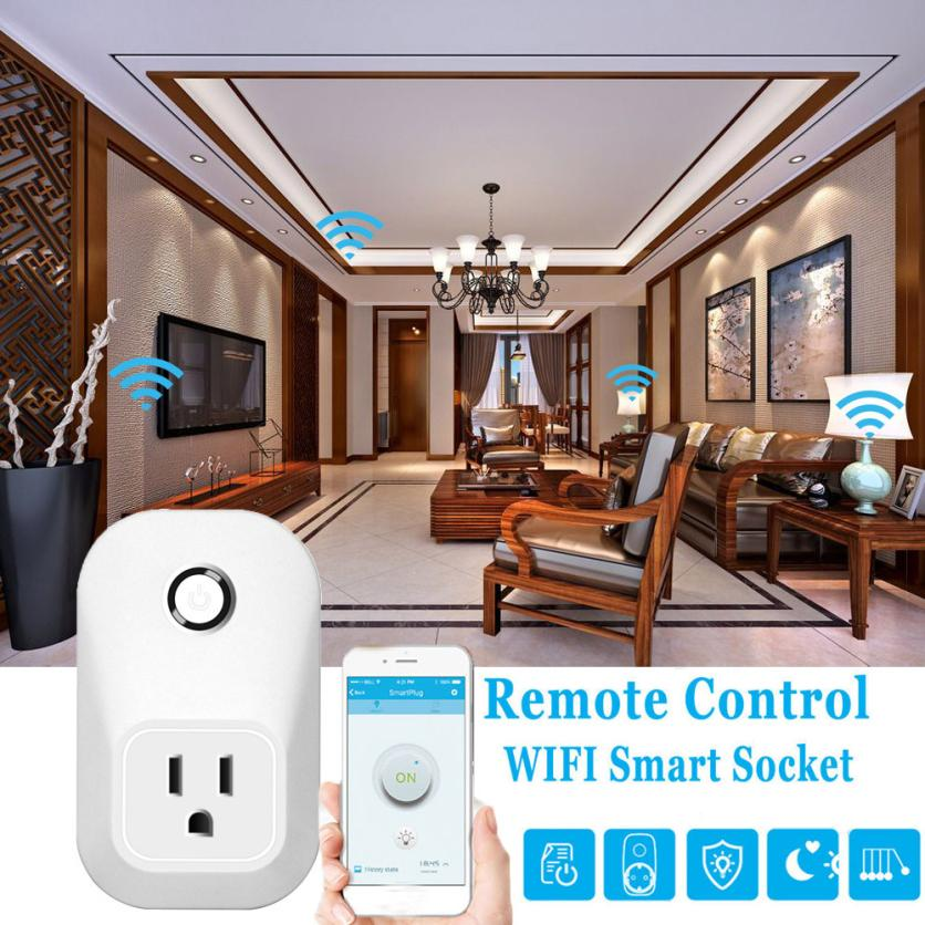 HIPERDEAL Automation Wireless Wireless US WiFi Phone Remote Repeater Smart AC Plug Outlet Power Switch Socket dec27