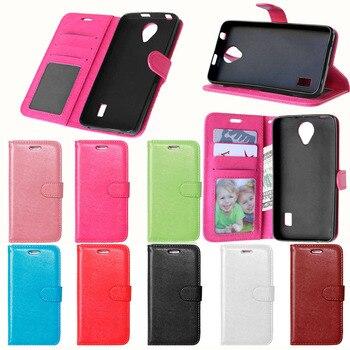 Para Huawei Ascend Y635 funda de lujo tipo billetera de cuero Coque para Huawei Y 635 funda Ascend Y635 soporte de teléfono funda con ranura para tarjetas