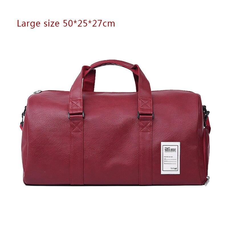 Мужская Дорожная сумка в стиле Лолиты, большая спортивная сумка, независимая обувь для хранения, большая сумка для фитнеса из искусственной кожи, женская сумка, сумки для багажа, спортивная сумка - Цвет: Red
