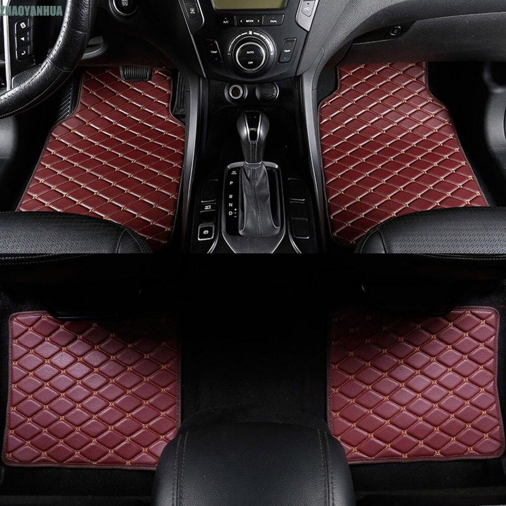 ZHAOYANHUA Car floor mats special for Audi A4 S4 B5 B6 B7 B8 allraod Avant 5D car-styling carpet floor liners (1994-present)