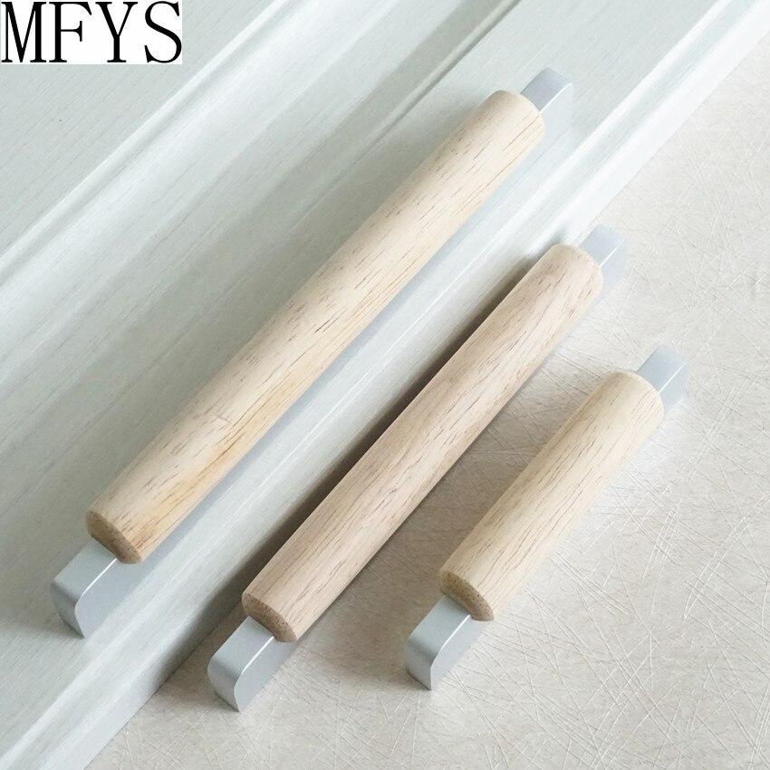 2.5'' 5'' wood drawer pull handles dresser knob pulls rustic kitchen cabinet handles door knob