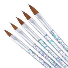 5 PCS/SET Hot Sale DAYFULI UV Gel Nail Brush For Carving Flower Gride Creative Art Supplies DIY Manicure Salon Essentials