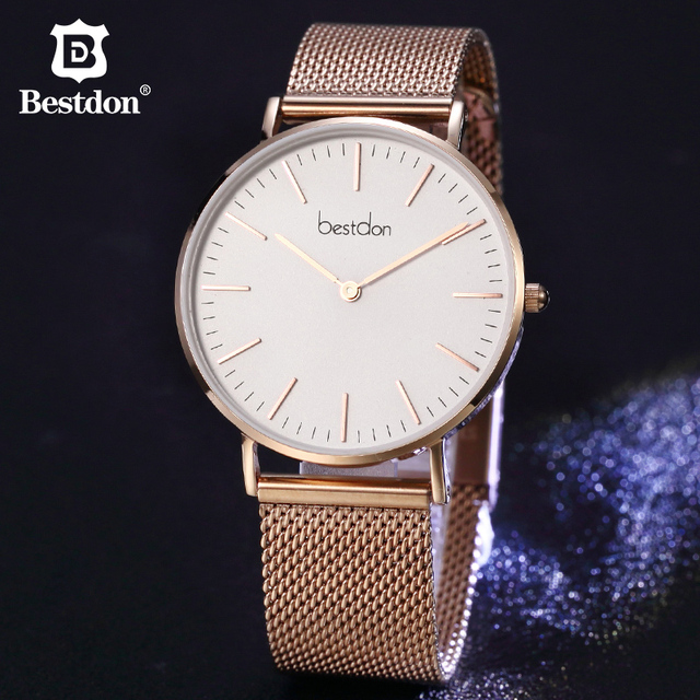 Bestdon 5.5mm Ultra thin Couple Watches Luxury Brands Japanese Quartz Waterproof Fashion Women Wrist Watch Gift For Lovers Clock