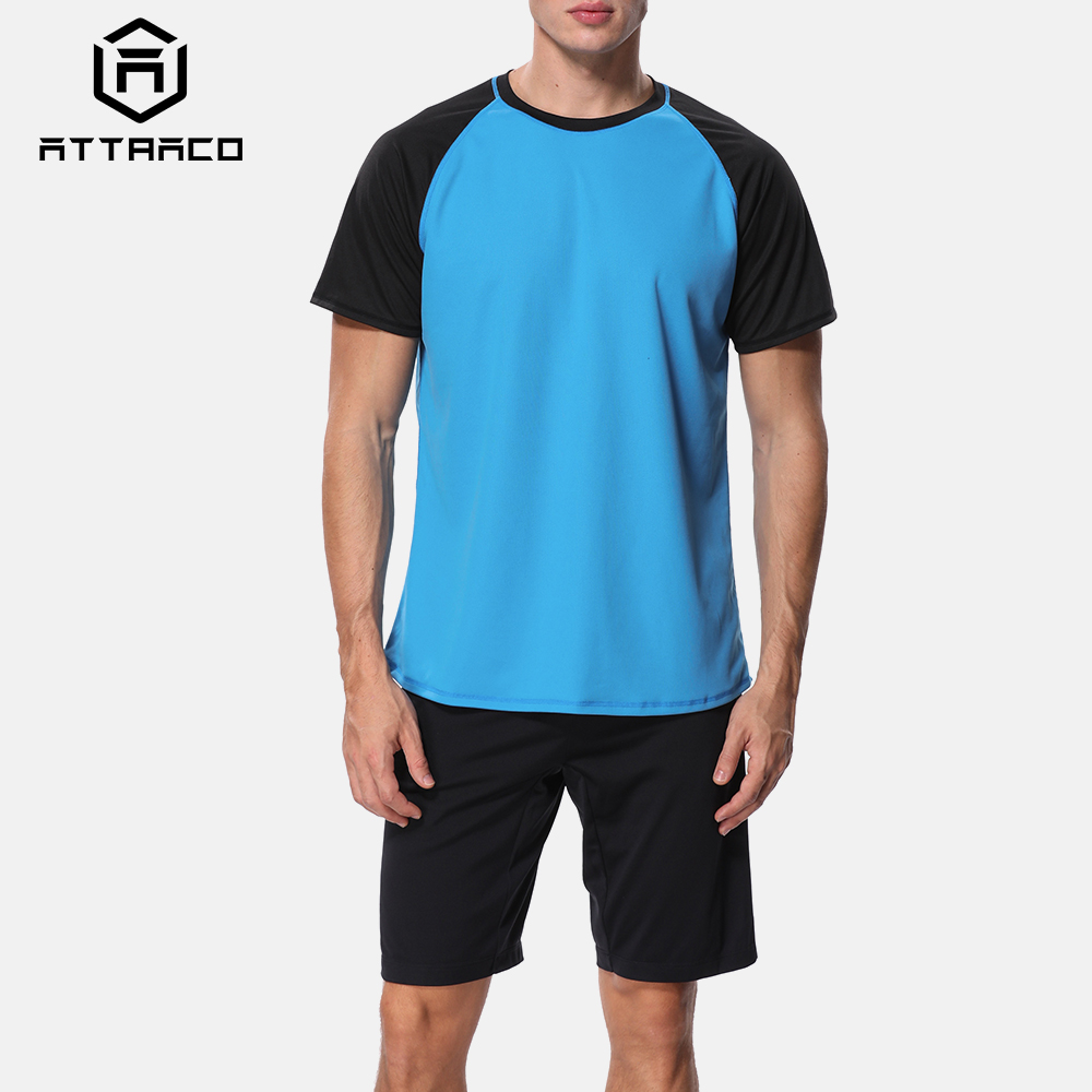 Attraco Men Rashguard Dry-Fit Shirts Surf Shirts Men Diving Shirt UV-Protection Rash Guard Top UPF 50+ Beach Wear