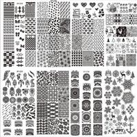 Últimas 32 Estilos Arte Del Clavo de DIY Plantilla del Sello Polaco Stamping Placas Radiográficas Decal JUL11 dropship