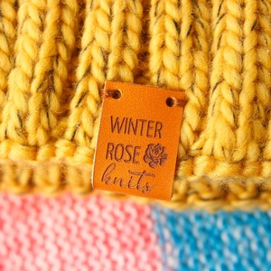 Image 3 - Custom Labels,Personalized Tags, Tags,  With Love, Leather Tags, personalized tags, knit labels, Custom Name,  Handmade (PB1502)