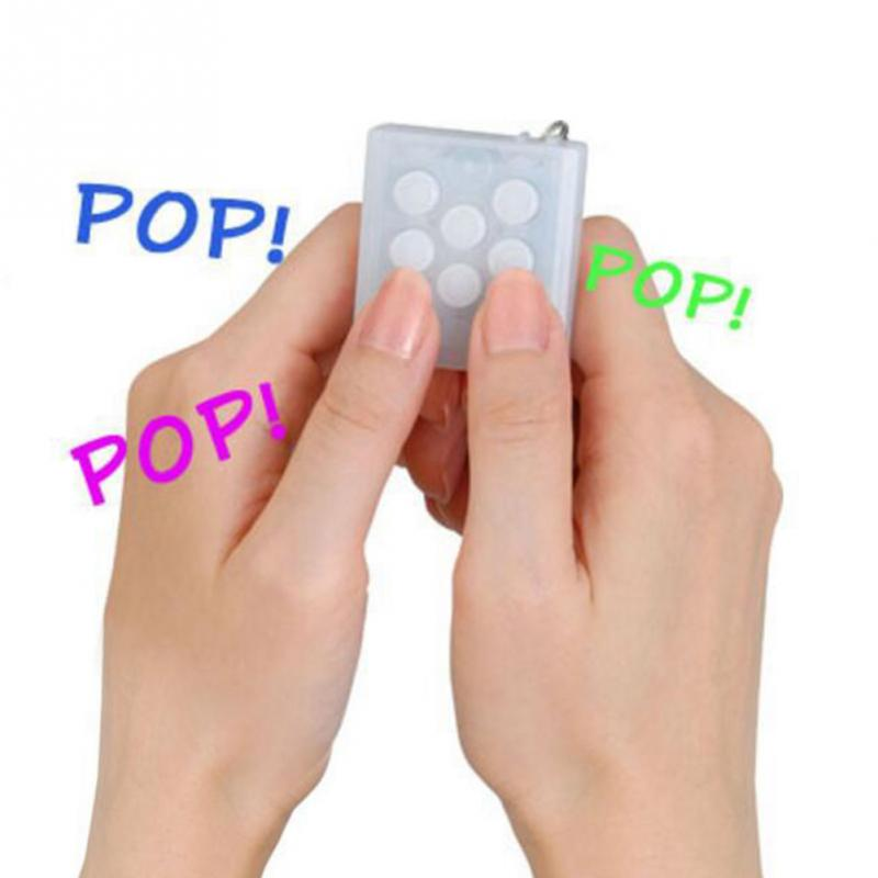 2018 NEW Anti Stress Toys Electronic Bubble Wrap Keyring Pop Infinite Keychain