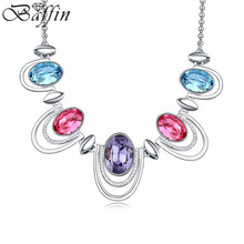 2016 100% Original Crystals From Swarovski Necklaces For Women Wedding Party Jewelry Collection Gifts(China)