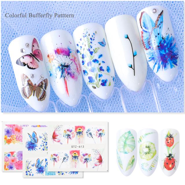 40pcs Nail Sticker Black Flower Water Transfer Decal Lace Dream Catcher Design Nail Art Slider Polish Decoration CHSTZ608-658