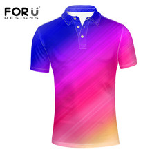 FORUDESIGNS Fashionable Polo Shirt For Men Casual Summer Wear Costume Male Party Holiday Hawaii Style Tee Short Sleeve Tops New