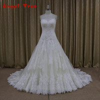 Direct Selling Custom Made Wedding Dresses A Line Lace Vintage Wedding Dress 2017 Lace Up Back