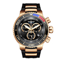 Мужские спортивные часы Reef Tiger/RT  водонепроницаемые аналоговые часы с резиновым ремешком  большие часы из розового золота  RGA3168
