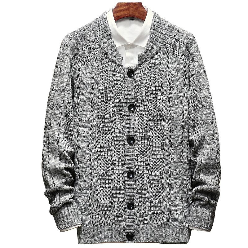 Autumn Winter Men's Sweater Casual Long Sleeve Knitted Sweater Men Loose Outerwear Jumpers Pull Homme Cardigan Men