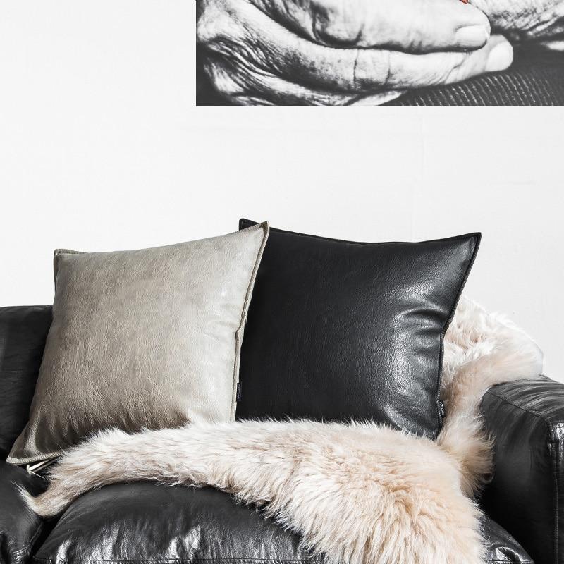 Drop Ship Home Decor Soft Pu Leather Pillow Do Not
