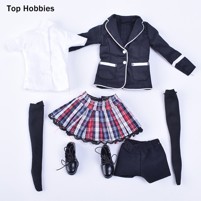 ZY Toys 15-30 1/6 Scale Women Clothes Female's School Uniform Suit Fit 12Phicen Jodoll Doll Toys Action Figure Clothing 1 6 women scale action figures silver imitation leather glittered female clothing suit body underwear shorts set fit 12 phicen