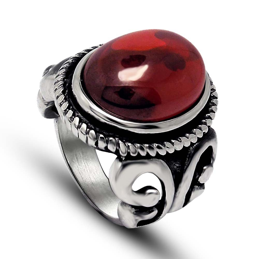 ruby ring round quick rings simulated red p sterling silver stone view
