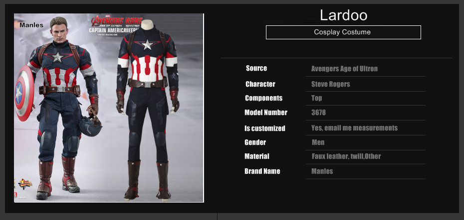 8cde9530af Captain America Cosplay Avengers 2 Age of Ultron Costume Jacket Man Adult  Fantasy Steve Rogers Halloween Suit Men Outfit Clothes