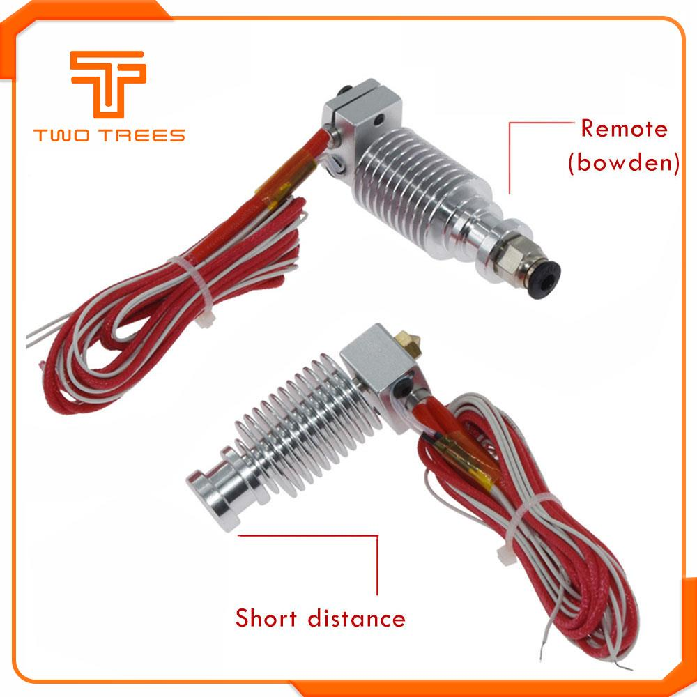 3D Printer V6 Remote Extrusion Head Extruder Thermistors Cartridge Heater 1.75mm J-HEAD Hotend For E3D Extruder Bowden
