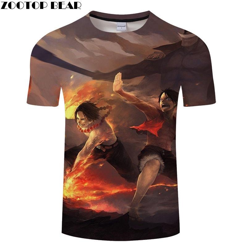 War Boy Men T Shirts Movie Funny Cool Short Casual Shirt Comic Hot Anime One Piece Brand t-shirt Breathable 3D Print ZOOTOP BEAR