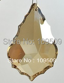 Free Shipping, 50mm Cognac Color French Pendant Crystal Prisms