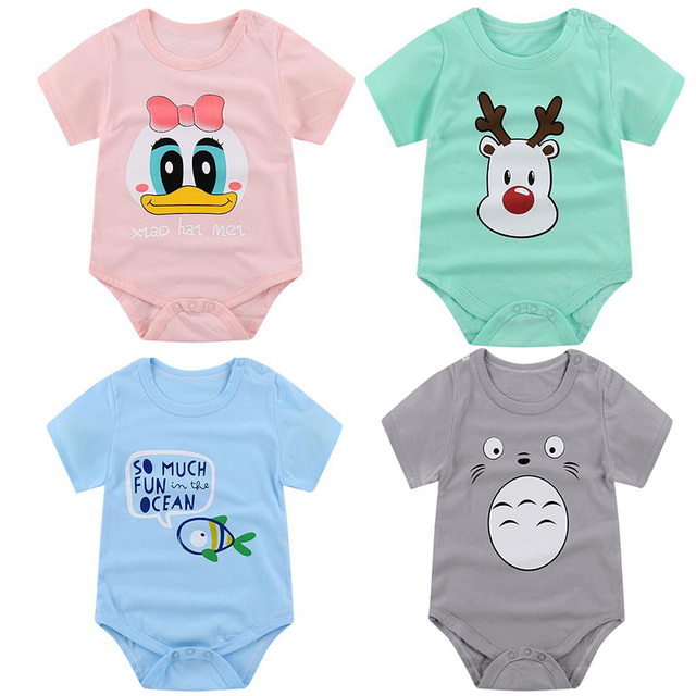 713e76c13eb New Summer Baby Boys Romper Animal style Short Sleeve infant rompers  Jumpsuit cotton Baby Rompers Newborn Clothes Kids clothing