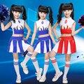 Niñas académicos dress uniformes escolares niñas cabrito estudiante trajes de jazz niño competencia traje de la muchacha de la animadora trajes