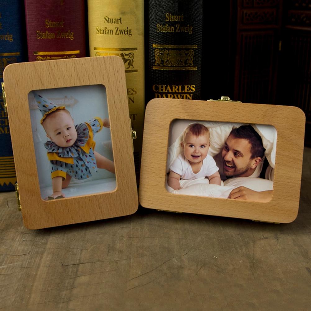 Baby Photo Frame Teeth  Box Baby Teeth Box Save Organizer Wooden  Box For Baby Kids Milk Teeth