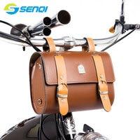 Retro Bicycle Front Bag Saddle Handlebar Bag Front Seat Pouch MINI Storage Bag FZB010