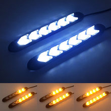 2x Waterproof Car led Switchback LED Daylight Headlight Eye DRL Lamp Dynamic Sequential Brake Turn Signal Daytime Running Light(China)