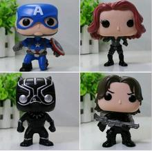 4psc  FUNKO POP 2017 new  action  The Avengers Captain America 3 Model buliding Toy Collectibles kids Gift