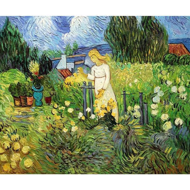 Grand mur paysage photos mademoiselle gachet jardin auvers sur oise van gogh peinture l - Peinture a l huile van gogh ...