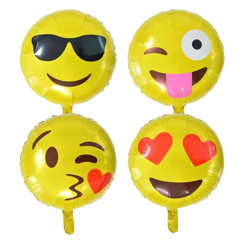 5pcs/lot Smile Sun foil balloons face helium balloon globos inflatable happy birthday balloons air balls children party supplies