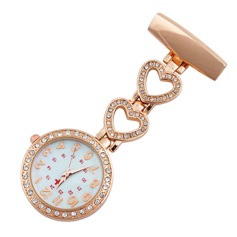 Clip-on Fob Nurse Watch Japan Quartz Movement Brooch Hanging Watches For Nurse Men Women Full Steel Pocket Watch Relogio Clock