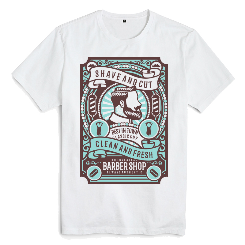 Bloodhoof <font><b>Shave</b></font> and Cut Caricature printing white cotton funny men t <font><b>shirts</b></font> unisex tops tee image