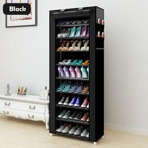 Image 5 - كبير الحذاء الرف 7 layer 9 mesh غير المنسوجة الأقمشة خزانة خذاء المنظم للإزالة تخزين الأحذية للأثاث المنزلي