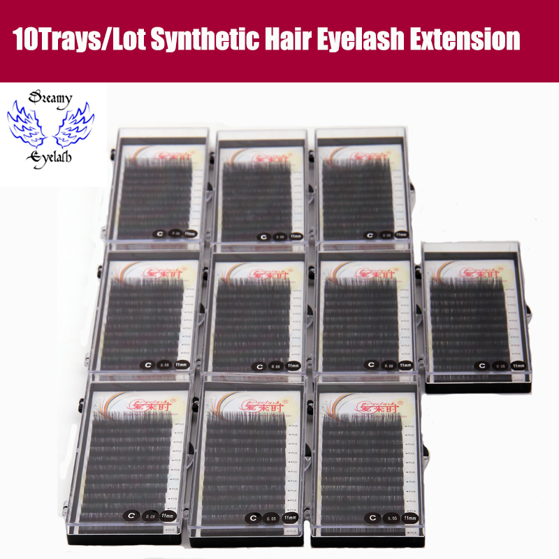 Eye Lash Extensions 0.05-0.25mm Thickness B/C/D Curl 3D False Eyelashes Korea Silk Volume Eyelashes Mink Eyelashes False Lashes