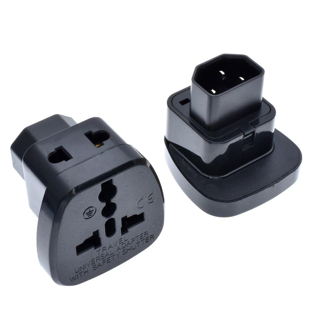 HTB111g3MCzqK1RjSZFLq6An2XXac - 2pcs/lot IEC 320 C14 Plug to Universal socket 1to2 converter power Adapter with Safety Shutter APC UPS PDU IEC-320 C14 inlet