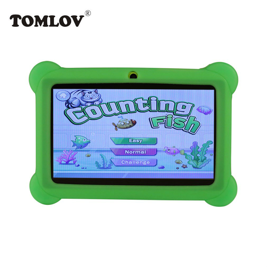 TOMLOV Children Learning Machine US PLUG Q88 7 inch Children Tablet 512MB+4GB A33 Quad Core Android 4.4 Tablet PC